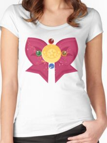 Sailor Moon Crystal Bow Women's Fitted Scoop T-Shirt