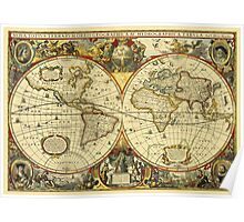 World Map 1641 Poster