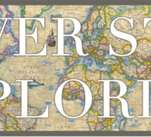 World Map - Never Stop Exploring Sticker Sticker