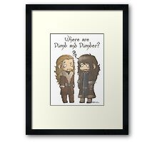 Dumb and Dumber Framed Print