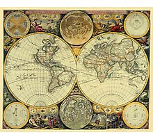 World Map 1675 Photographic Print