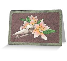 Light Magnolia Greeting Card