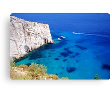 Greek Bay Canvas Print