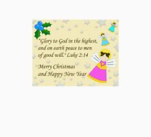 Christmas card with angels Unisex T-Shirt