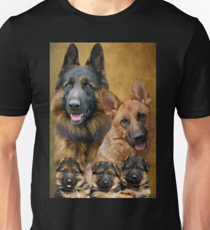 German Shepherd Family Collage Unisex T-Shirt