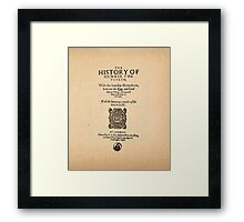 Shakespeare's Henry IV Front Piece Framed Print