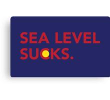 Sea Level Sucks Canvas Print