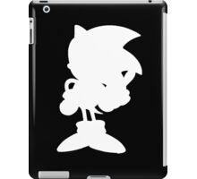 Classic Sonic Silhouette - White iPad Case/Skin