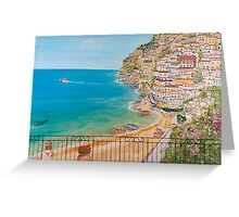 Vista su Positano Greeting Card