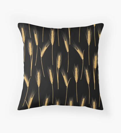 Ears of wheat pattern Throw Pillow