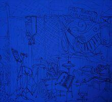 Corner of the blues bar by Sezmartyn