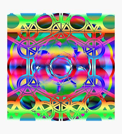 Sacred Geometric Colorful shapes Photographic Print