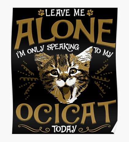 Ocicat Cat Pet Animal Poster
