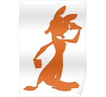 Daxter Silhouette - Orange Poster