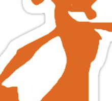 Daxter Silhouette - Orange Sticker