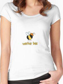 Worker Bee - builder/construction Women's Fitted Scoop T-Shirt