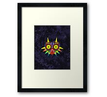 Majora's Mask Splatter (No Background) Framed Print