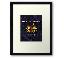Majora's Mask Splatter (Quote No Background) Framed Print