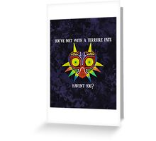 Majora's Mask Splatter (Quote No Background) Greeting Card