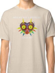 Majora's Mask Splatter (Quote No Background) Classic T-Shirt
