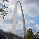 St. Louis Arch in Springtime by daydremr