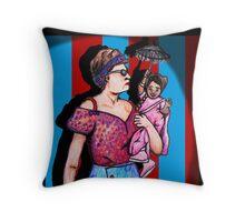 Amazon Eve and Ma Petite Throw Pillow