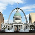 St.Louis Arch and Courthouse by daydremr