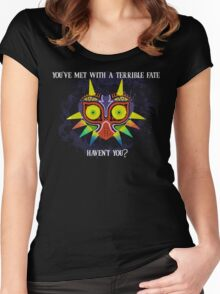 Majora's Mask Splatter (Quote) Women's Fitted Scoop T-Shirt