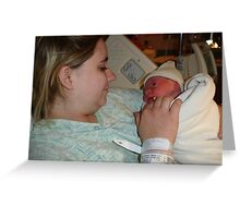 Mother and childs frist glance Greeting Card