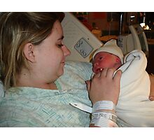 Mother and childs frist glance Photographic Print