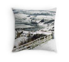 Winter - Robin Hoods Bay  Throw Pillow