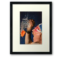 Waterburst Framed Print
