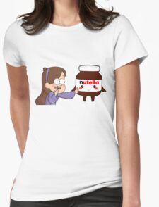 Gravity Falls - Mabel and Nutella Womens Fitted T-Shirt