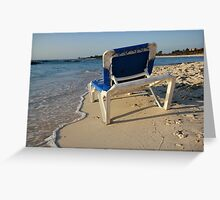 alone in the beach Greeting Card