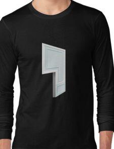 Glitch Homes Wallpaper babyblue molding left divide Long Sleeve T-Shirt
