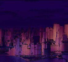 New York Sunset by Simon  Mattocks