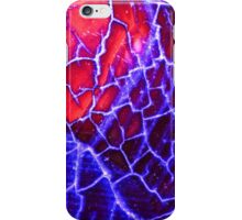 Red Blue Dragon Vein Agate Pattern iPhone Case/Skin