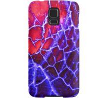 Red Blue Dragon Vein Agate Pattern Samsung Galaxy Case/Skin