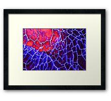 Red Blue Dragon Vein Agate Pattern Framed Print