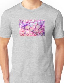 White Red Dragon Vein Agate Pattern Unisex T-Shirt