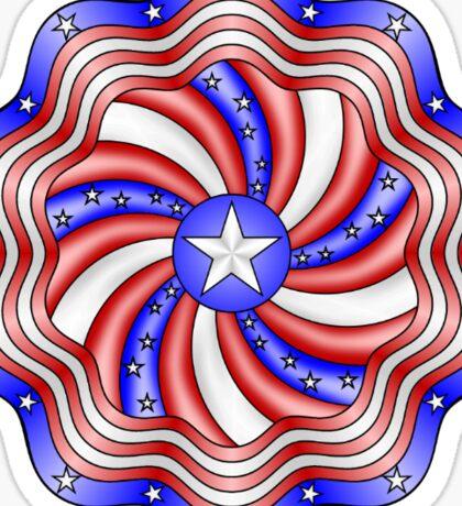 Patriotic Mandala Sticker