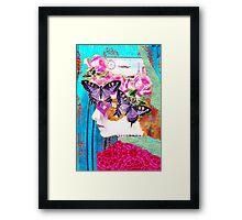 Liberte (Mixed Media Collage) Framed Print