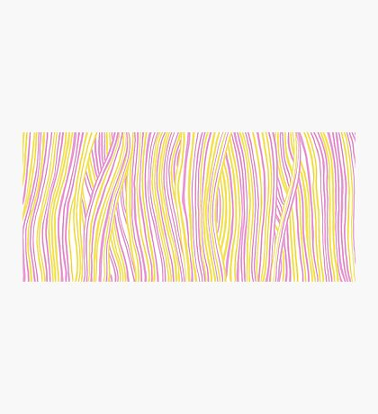Funky stripes, white, pink and yellow Photographic Print