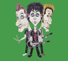Punk Rock Caricature Drawing T-Shirt