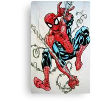 Spider-man Swinging Canvas Print