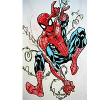 Spider-man Swinging Photographic Print