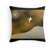 Flying the storm Throw Pillow