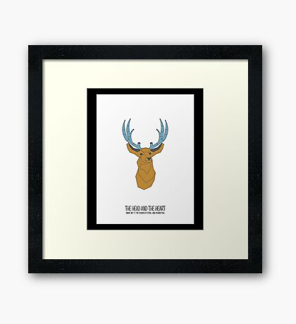 the head and the heart Framed Print