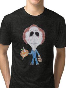Horror Movie Serial Killer Caricature Tri-blend T-Shirt