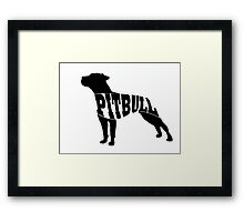 Pitbull black Framed Print